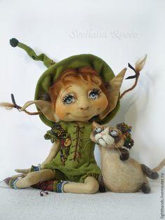 Купить Флори и Брунс. Коллекционная кукла - кукла ручной работы, кукла в подарок, кофейный