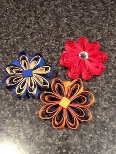 My Quilling Flower Style Hair Clip Style Hair, Flower Fashion, Hair Ties, Quilling, Headbands, Bows, Flowers, Handmade, Color