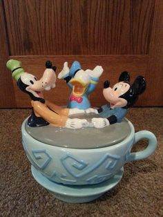 Mickey Mouse, Goofy & Donald Duck Cookie Jar by Disney Direct