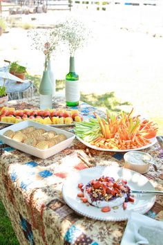 Garden-themed bridal shower luncheon. #healthyfood #lightmenu  Photo by Faithfully Focused Photography