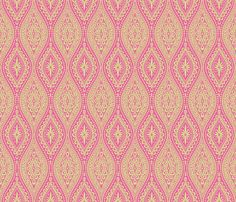 Scallopy-lime on pink fabric by groovity on Spoonflower - custom fabric