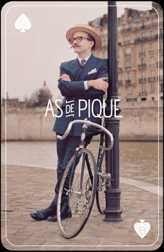 Print design for As de Pique. Just wait, this will be the next step in the style evolution of the Portland bicyclist. They're nearly there now with the eye wear, boots and 1920's facial hair.
