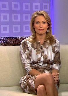 Amy Robach NBC TV USA Women, Womens Fashion, Gorgeous Women, Tv Presenters, Legs, Pantyhose, White Girls, Pantyhose Fashion, Fashion