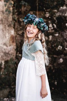 Young Fashion, Kids Fashion, Maria Rose, Heirloom Sewing, Wedding With Kids, Little Girl Fashion, Floral Crown, Baby Sweaters, Girl Hairstyles