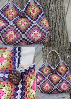 [손뜨개 가방] 코바늘 모티브 가방 : 네이버 블로그 Japanese Bags, Crochet Bags, Blanket, Crocheted Bags, Taschen, Crochet Tote, Blankets, Crochet Clutch Bags, Carpet