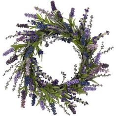 20 inch Lavender Wreath, Green