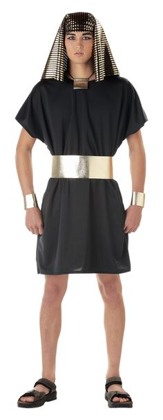 About Costume Shop Pharaoh Adult Costume - Pharaoh Adult CostumeEgyptian PharaohCostume includes: Tunic, Headpiece, Choker, Cuffs andBeltHe can accompany Cleopatra.Available Sizes: Medium Large Extra Large Page Easy Costumes, Dress Up Costumes, Cool Halloween Costumes, Adult Costumes, Costume Ideas, Family Costumes, Halloween Ideas, Egyptian Costume Kids, Egyptian Party