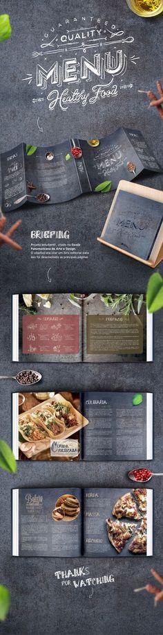 Design of a book for editorial Panamericana School of Art & Desin. Menu Board Design, Food Menu Design, Restaurant Menu Design, Restaurant Branding, Layout Design, Cafe Design, Web Design, Menu Bar, Menu Layout