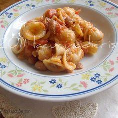 Orecchiete (Paste) cu Fasole Boabe si Peste din Conserva Paste, Rigatoni, Sardinia, Ethnic Recipes, Food, Bulgur, Eten, Meals, Diet