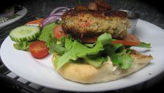 Pan Fried-Remoulade-Fruit Chutney w/ Mixed Greens-Tomato & Balsamic Vinaigrette