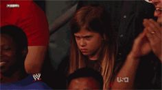 This wrestling fan cursed everyone in the arena.   The 89 Funniest Sports GIFs Of 2013