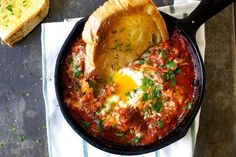 eggs in purgatory, puttanesca-style
