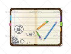 Personal Vector Organizer and Pencil