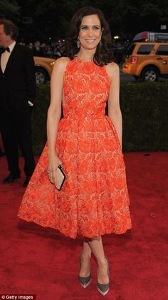 more orange from the met gala. but this is orange LACE! therefore = completely different. but just as pretty.