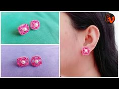 How To Make Quilling Stud Earrings Tutorial / Paper Quilling Earrings / Design 27 Quilling Studs, Neli Quilling, Paper Quilling Earrings, Quilled Roses, Quilling Comb, Quilling Craft, Quilling Patterns, Quilling Designs, Quilling Ideas