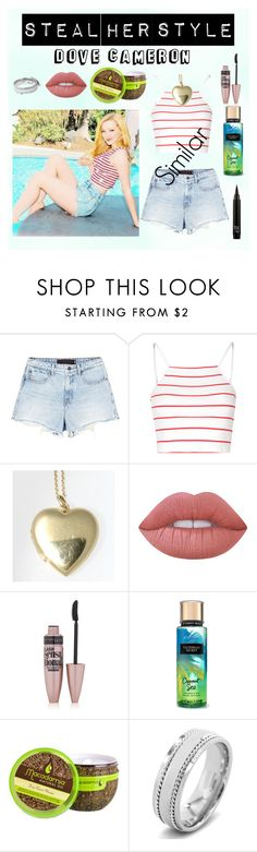 """""""Steal Her Style   Dove Cameron"""" by alison2000 ❤ liked on Polyvore featuring Alexander Wang, Glamorous, Tiffany & Co., Lime Crime, Maybelline and West Coast Jewelry"""