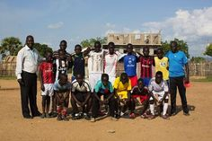 "Players in South Sudan: ""Our team is called the Young Boys. We grew up in this neighborhood, so we wanted to give the local kids something to do after school. We bought them balls and shoes with our own money, and for game days, we go around and beg local churches for a place to play. We want to keep them very busy so they don't have time for bad things. We don't want to see anyone on our team wandering the streets. We practice every other day. The girls have their practice on our days off."""