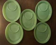 Rare Jadeite sandwich plates! I need these to complete my collection! & Mid Century Divided Plastic Plate Holders or Food Tray for Camping ...