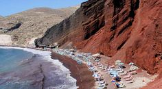 Red beach Santorini Greece 2013