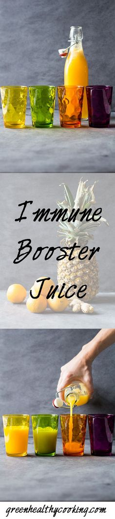Make sure you stay healthy during the holidays by drinking this Immune Booster Juice every day. It tastes amazing and makes you strong like The Hulk!