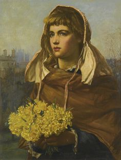 Valentine Cameron Prinsep (1838 - 1904) - Fresh flowers from the country
