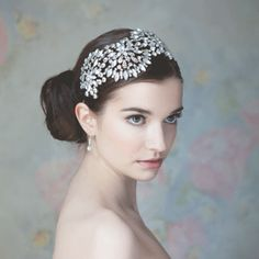'Rainbow Club Anemone' diamante and enamel headpiece (at highsocietybride.co.uk)