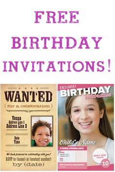 10 FREE Photo Birthday Invitations! {just pay s/h} #birthdays #invites #parties