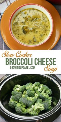 Broccoli Cheese soup is easy to make in the slow cooker with fresh broccoli! #slowcookerrecipes #CrockPot #SoupRecipes