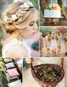 floral arrangements inspired boho theme rustic wedding ideas