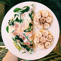 """befit-behealthy-beyou: """" Good morning! It's Monday! Taught my GRIT, body attack and core triple at @myfitnessclub_broadbeach from 5:30-7 and then ate this for brekky! Egg white vegetable + ham omelette with 2 corn thins, PB, honey, banana and sweet..."""