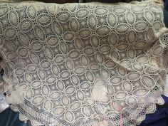 Vintage Crochet Tablecloth~70.8~round Rare Big Size~ item no 847