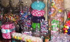 Colorful candy display