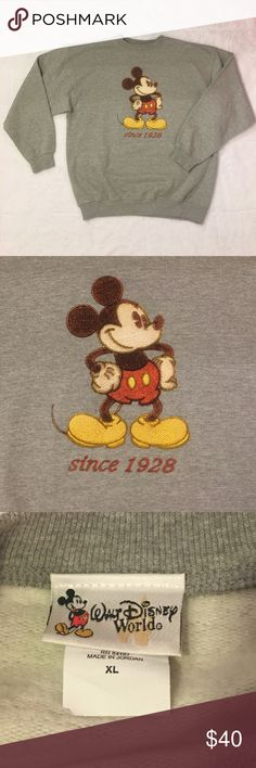 Walt Disney World Embroidered Mickey Mouse Sweater Walt Disney World Embroidered Mickey Mouse Sweater. Size XL Extra Large. Lightly Worn. In Great Pre Owned Condition. Disney Sweaters