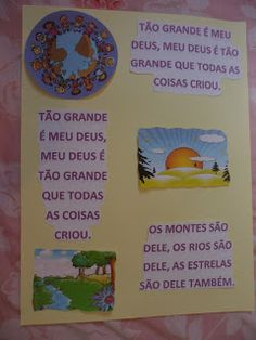 Diário de uma Peregrina: Cartazes de versículos e Cânticos para Escola Bíblica Infantil