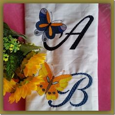 Exclusive Stitches: ES014–Butterfly Alphabet Stitch Design, Machine Embroidery Designs, Stitches, Alphabet, Sewing Projects, Butterfly, Creative, Blog, Fun