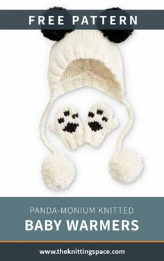 Winter Knitting Patterns, Baby Hat Knitting Pattern, Baby Hat Patterns, Baby Hats Knitting, Knitted Baby, Knitting For Kids, Free Knitting, Baby Knits, Baby Hat And Mittens