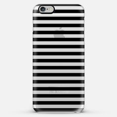 Classic Black Stripes Transparent iPhone 6 Plus Case by Organic Saturation | Casetify. Get $10 off using code: 53ZPEA