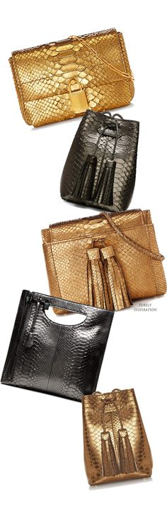 Tom Ford FW2015 metallic leather handbags | Purely Inspiration
