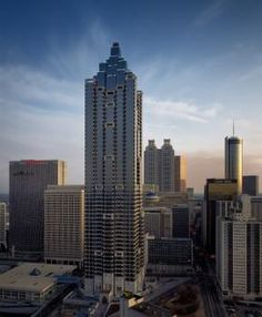 Atlanta's Tallest Buildings: The SunTrust Plaza located in downtown at 303 Peachtree St. is 871 feet tall with 60 floors.