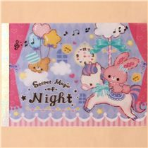 cute pastel pink bunny and bear block Note Pad by Q-Lia