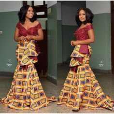 Glam Kitenge Long Styles new African Traditional Dresses, African Dresses For Women, African Attire, African Fashion Dresses, Ghanaian Fashion, Ankara Fashion, Fashion Outfits, African Women, Fashion Styles