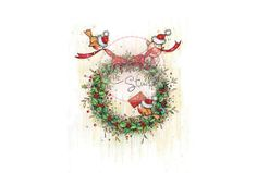 Wild Rose Studio Clear Stamp Set - Christmas Wreath
