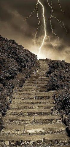 Arthur's Stormy Steps Park Edinburgh, Scotland