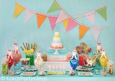 Sweet shoppe candy party! 8 fabulous birthday party themes for girls | Kara Allen / Kara's Party Ideas