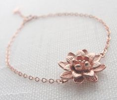 Flower Bracelet  it's official: I am obsessed with any and all things rose gold.