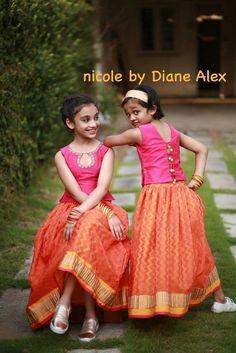 New baby fashion indian ideas Kids Dress Wear, Kids Gown, Baby Dress, Kids Wear, Kids Indian Wear, Kids Ethnic Wear, Frocks For Girls, Little Girl Dresses, Girls Dresses