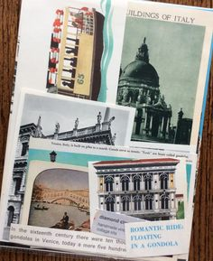 Let's Travel to Venice Italy Vintage Collage by diamondcloudstudio
