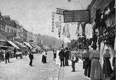 An poster sized print, approx (other products available) - circa Shops on New Cut Street at Lambeth, London. (Photo by Hulton Archive/Getty Images) - Image supplied by Fine Art Storehouse - poster sized print mm) made in Australia Victorian London, Vintage London, Old London, Victorian Era, London History, British History, Uk History, Local History, London Pictures