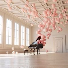 Musical balloon installation by artist @frederico_picci. // From @marthastewart on insta.