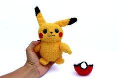 Pokemon GO Pikachu toys Crochet toys knitted by KnittedToysNatalia